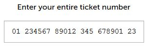 Ticket number input
